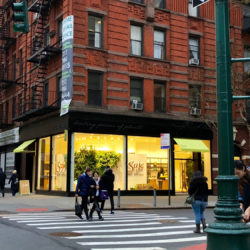 Image of the Saje Natural Wellness Exterior located on Columbus Avenue in New York City.