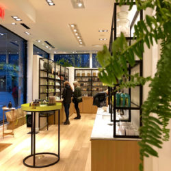 Image of the Saje Natural Wellness interior located on Columbus Avenue in New York City.