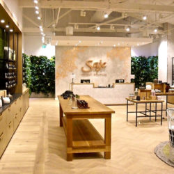 Image of the Saje Natural Wellness interior, located in Century City.